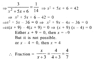 Selina Concise Mathematics Class 10 ICSE Solutions Chapter 6 Solving Problems Ex 6E 13.1