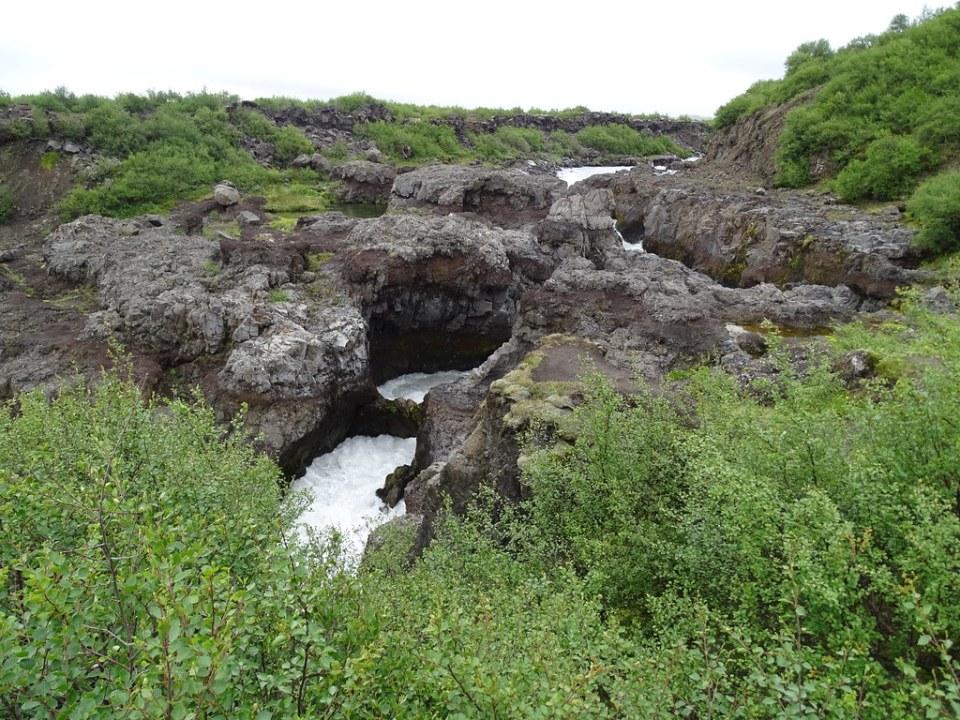 Islandia Cascada Barnafoss o Cascada de los Niños rio Hvita 09