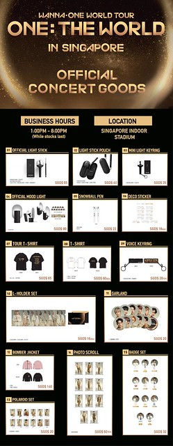 WANNA ONE 'ONE: THE WORLD' IN SINGAPORE MERCH