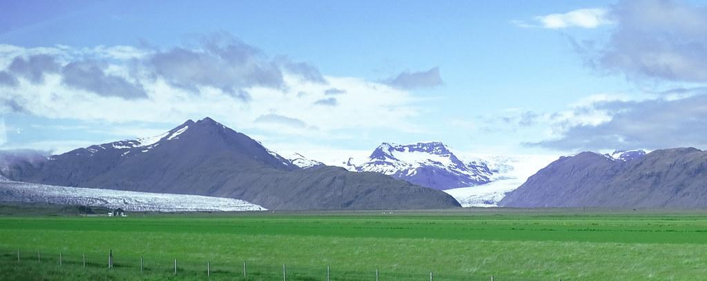 lengua de Glaciar vistas en carretera de Hofn a Smyrlabjorg Islandia 08 fotos tomadas desde un autobus