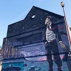 #streetart #oostende #thechrystalship #art #wall #colours #ostende #visitoostende #vsco #vscocam #wanderlust #belgium #guardiantravelsnaps #blue #sky #streetartistry