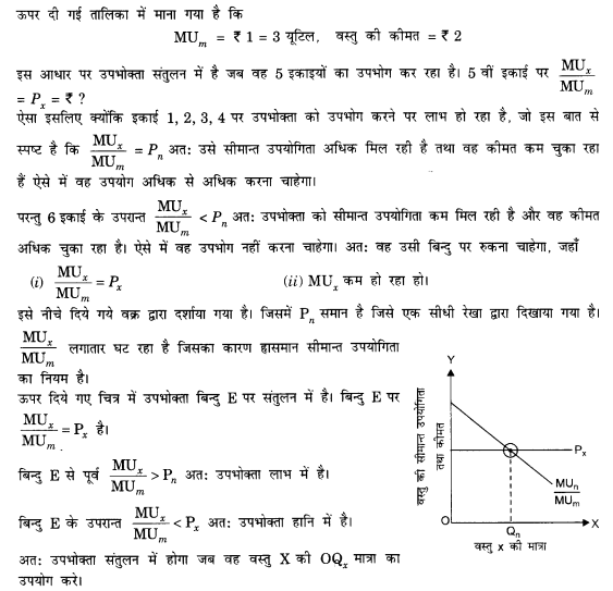 NCERT Solutions for Class 12 Microeconomics Chapter 2 Theory of Consumer Behavior (Hindi Medium) saq 3.2