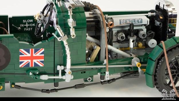 1930 Bentley Blower in Lego 1:8,5 (hood removed)