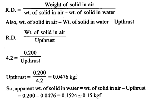 A New Approach to ICSE Physics Part 1 Class 9 Solutions Archimedes' Principle..006