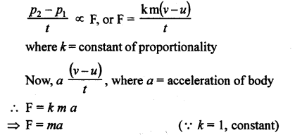 A New Approach to ICSE Physics Part 1 Class 9 Solutions law of motion.27