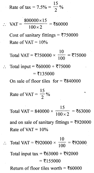 ML Aggarwal Class 10 Solutions for ICSE Maths Chapter 1 Value Added Tax Ex 1 15