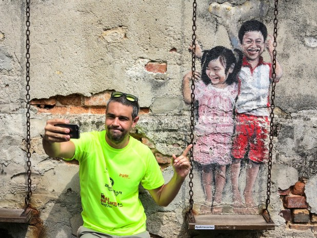Muestra de los murales de Penang
