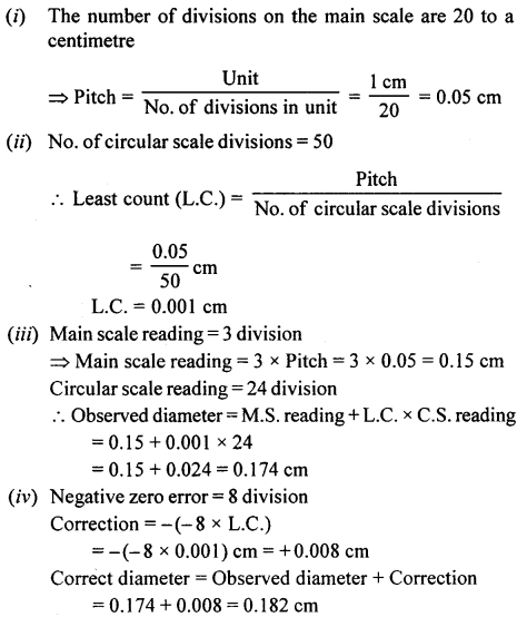 A New Approach to ICSE Physics Part 1 Class 9 Solutions Measurements and Experimentation 35