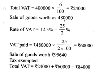 ML Aggarwal Class 10 Solutions for ICSE Maths Chapter 1 Value Added Tax Ex 1 14