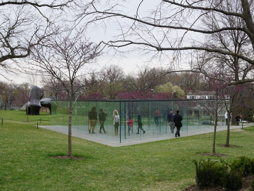 Glass Labyrinth in the Donald J. Hall Sculpture Park at the Nelson-Atkins Museum, Kansas City, Mo., April 21, 2018.