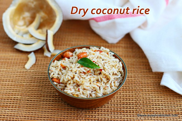 Dry coconut rice