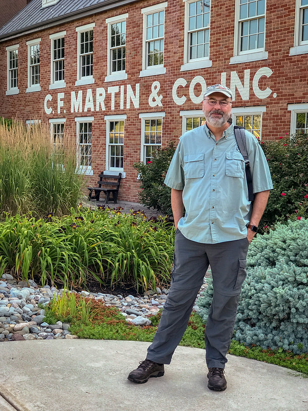 Ed, outside the Martin Guitar Factory