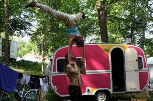 Sade Kamppila och Julien Auger från Cirkus I Love You