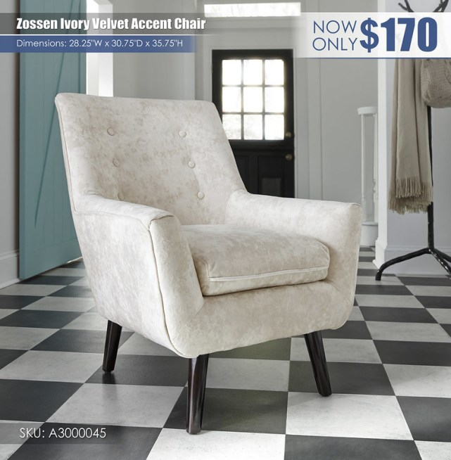 Zossen Ivory Accent Chair_A3000045