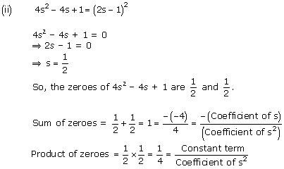NCERT Solutions for Class 10 Maths Chapter 2 Polynomials 4