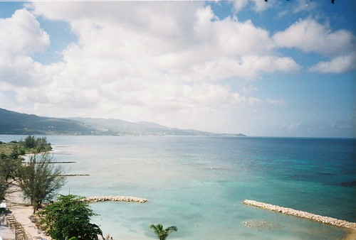 Beach at Sunset Beach, Jamaica by heather0714