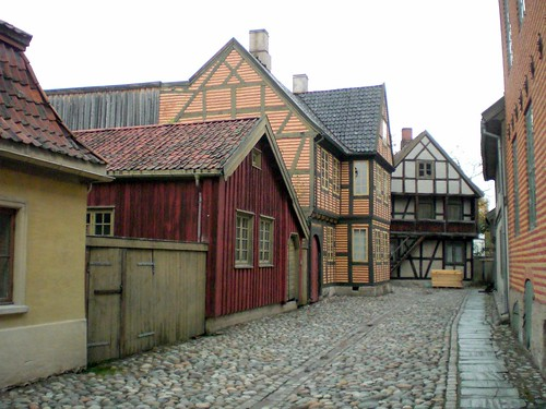 The 'old town' in the museum