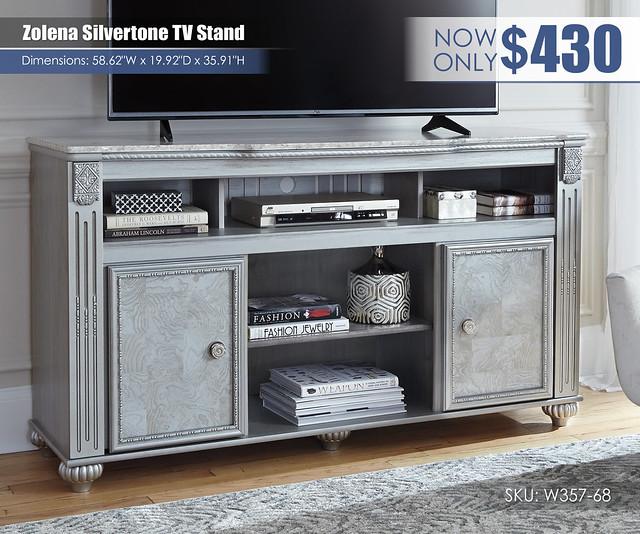 Zolena Silvertone TV Stand_W357-68