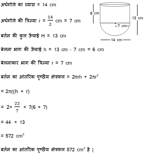 NCERT Solutions For Class 10 Maths Surface Areas and Volumes PDF 13.1 2