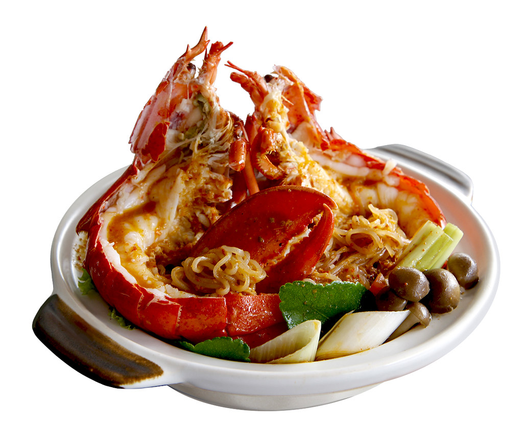 JUMBO Seafood and Singapore Seafood Republic - Braised Live Boston Lobster with Nonya Sauce
