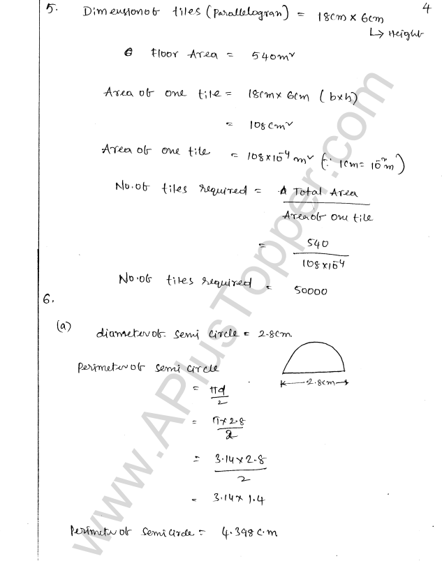 ML Aggarwal ICSE Solutions for Class 8 Maths Chapter 18 Mensuration