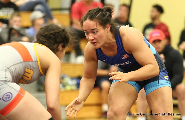 62 kg: Mallory Velte (Titan Mercury) vs. Brenda Reyna (Bearcat WC). 180519BJF0155