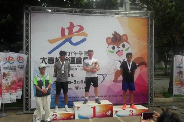 元智管院外籍生康福迪 獲107全運會網球單打冠軍殊榮(中)