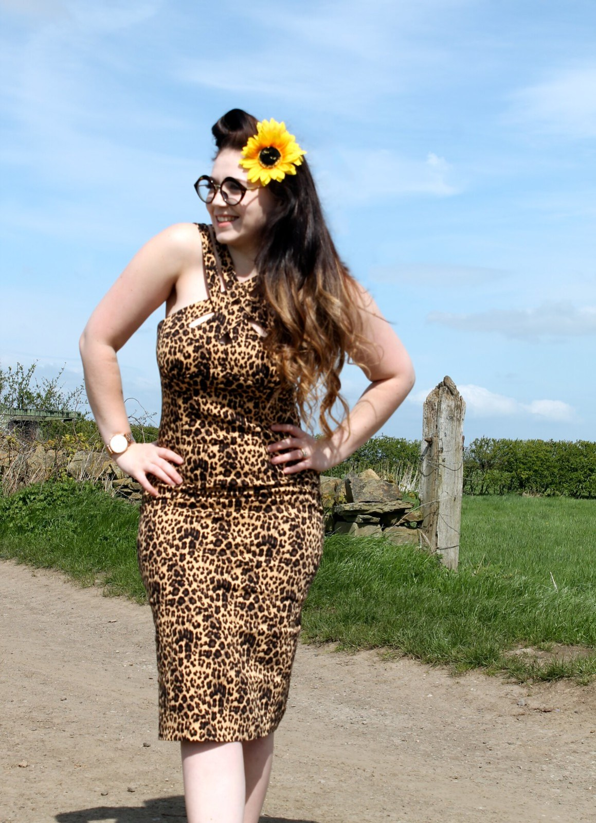 Voodoo Vixen Georgia Harrup Leopard Print Wiggle Pencil Dress