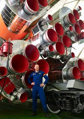 Alexander Gerst and Soyuz rocket