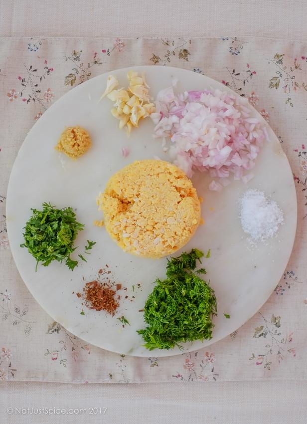 Split Chickpea Fritters | Masala Vada | Paruppu Vadai on notjustspice.com