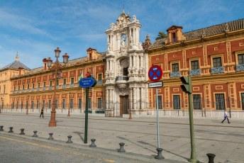 Het San Telmo Paleis, hier huist tegenwoordig de president van de regio Andalusië.