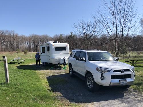 Sandbanks first campsite