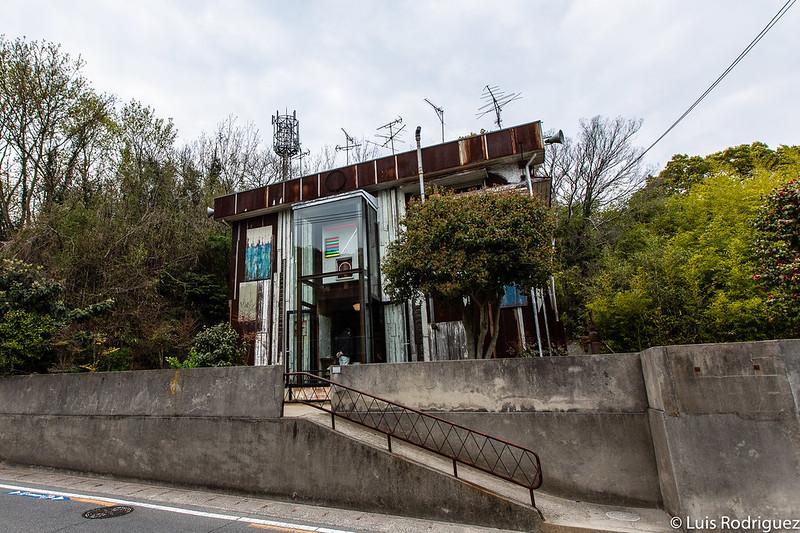 Exterior de Haisha en Naoshima