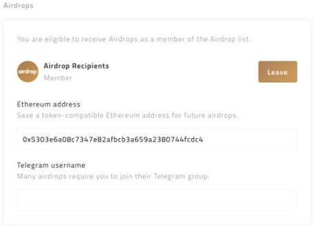 Airdrops en Earn.com