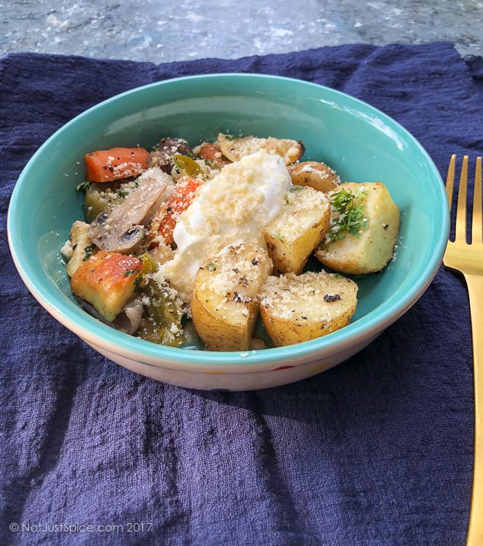 Ghee Roasted Vegetables | 30-Minute Vegetarian Meal on notjustspice.com