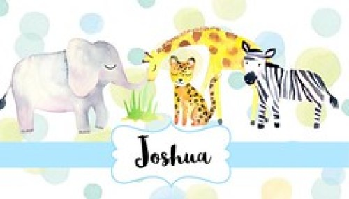 Jungle Animals-Blue