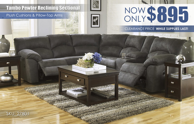 Tambo Pewter Sectional_CLEARANCE