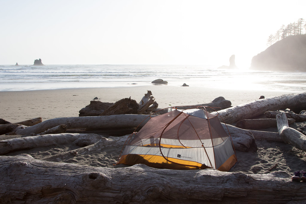 Camping on Second Beach