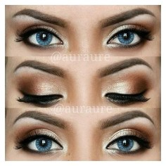 Best Ideas For Makeup Tutorials : 12 Easy Ideas For Prom Makeup For Blue Eyes Gurl ❤ liked on Polyvore featuring…