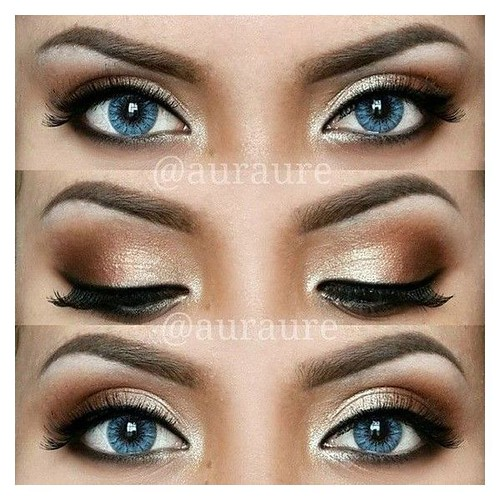 Best Ideas For Makeup Tutorials : 12 Easy Ideas For Prom Makeup For Blue Eyes Gurl ❤ liked on Polyvore featuring...
