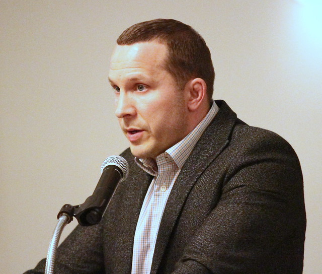 Josh Cagle, Presenter for inductee Ed Kane. 180428BJF0984