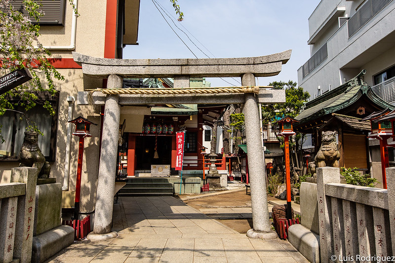 Torii de entrada al santuario Yoshiwara