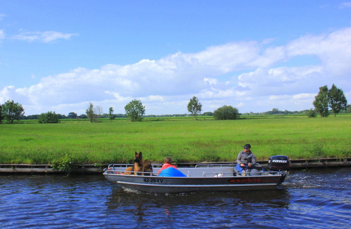 Villagers use boats for everything in Giethoorn