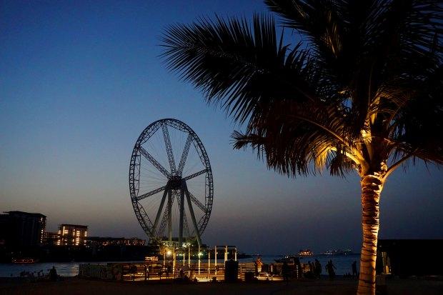 The Ferris wheel in Dubai Marina