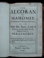 The Alcoran (Qu'ran)