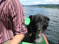 Bouba fait du bateau
