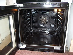 Inside of the oven