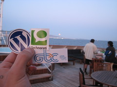 Wordpress, Technorati, GBC stickers