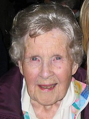 Photo of Katherine's Great Aunt Betty at the family reunion in Glacier, June 2007
