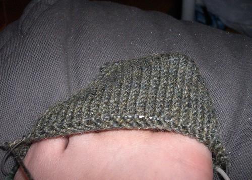 handspun wool/mohair sock